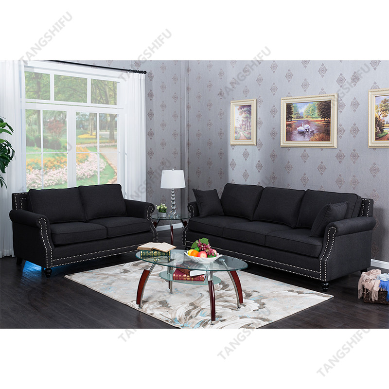 TSF-63801-2-Grey Sofa Living room furniture
