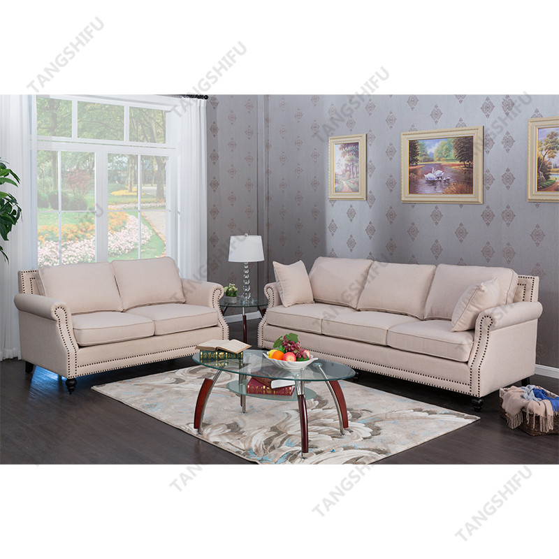TSF-63801-2-Beige Sofa Living room furniture
