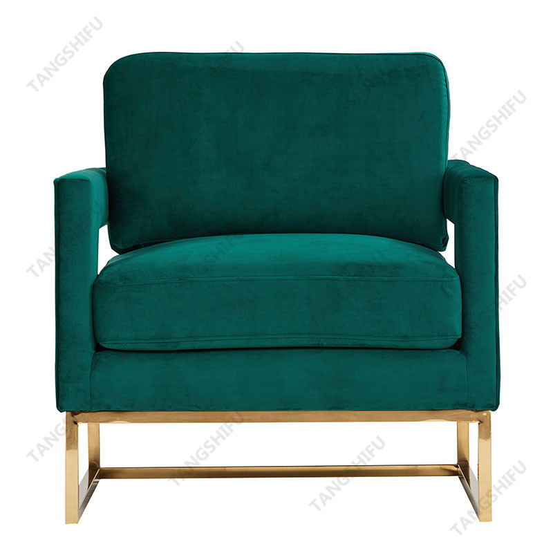 TSF-7744-Green Velet Accent chairs