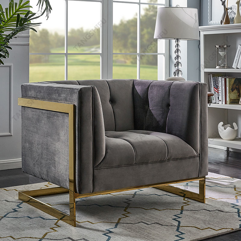 TSF-5507-1-Grey Gold CC Accent chairs