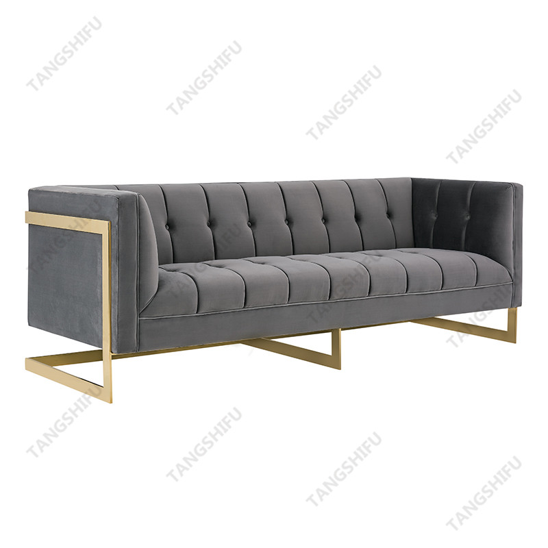 TSF-5507-3 The decorative designer couch is used to decorate the room at home. The unique sofas are household products with frames.