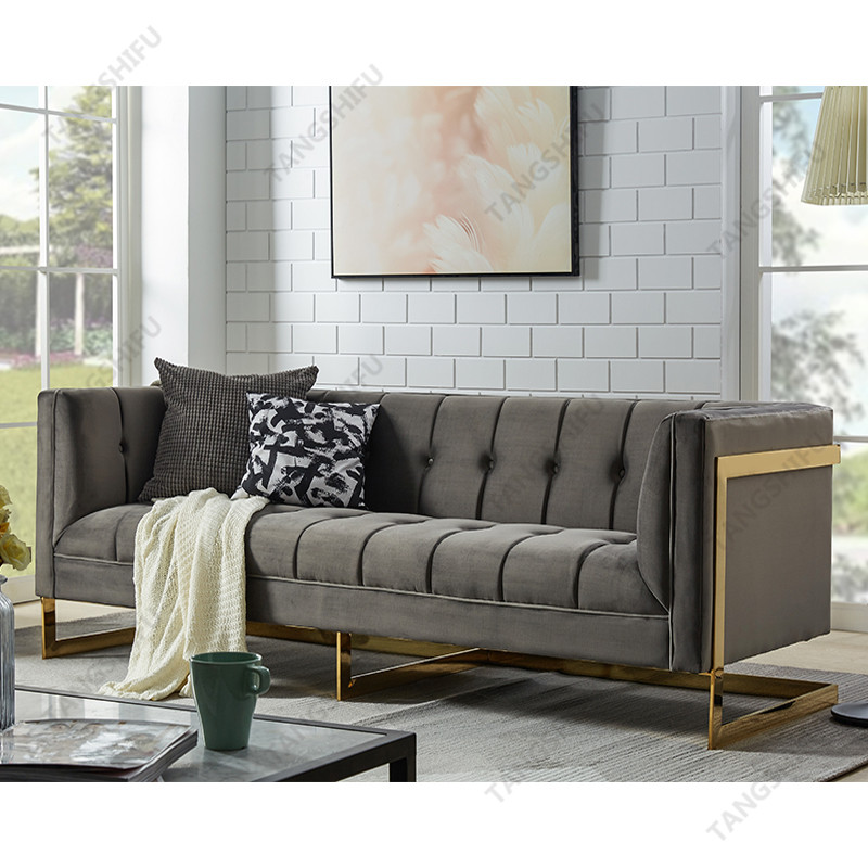 TSF-5507-3-Grey Gold-WI8865 Living room furniture