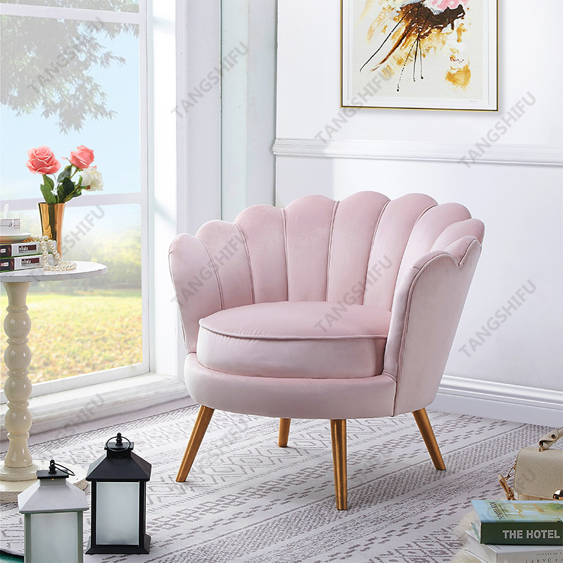 TSF-5511-Light Pink Velvet Accent chairs