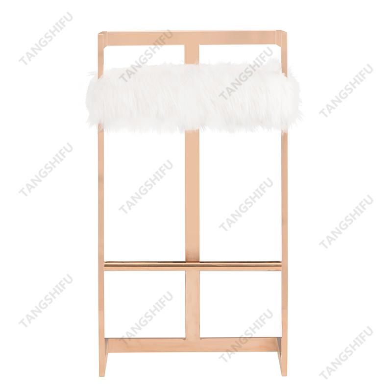 TSF-6619-White Sheepskin Dining Chairs
