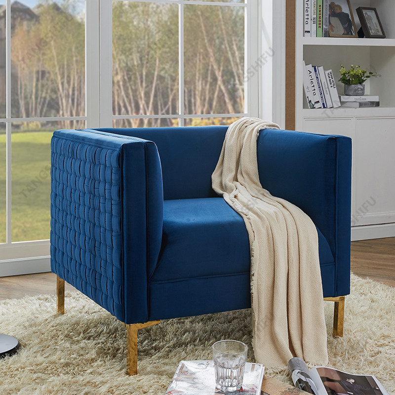 TSF-6625-Navy Gold Accent chairs