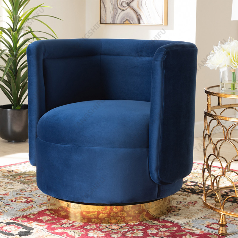 TSF-6653-Navy Blue Accent chairs
