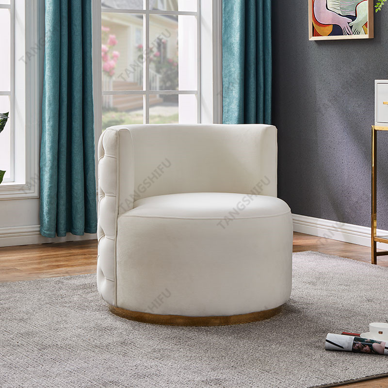 TSF-6697-Cream Velvet CC-01 Accent chairs