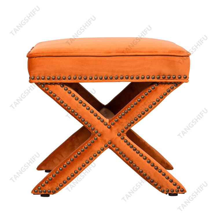 TSF-67213-Orange Vevlet Living room furniture