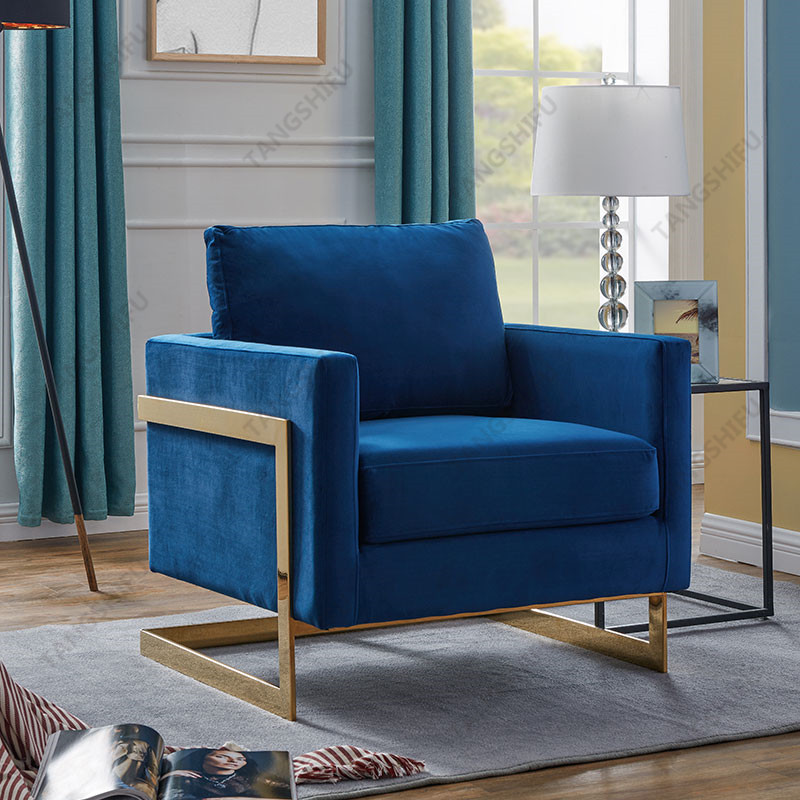 TSF-7724-1-Navy Gold-CC Accent chairs