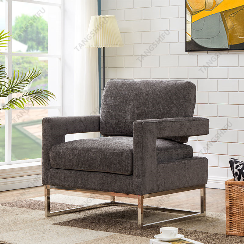 TSF-7744-Grey Linen Accent chairs