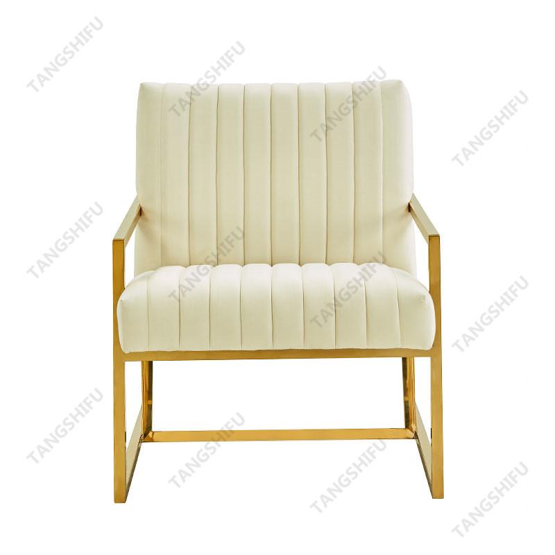 TSF-7754D-Cream Velvet CC-01 Accent chairs