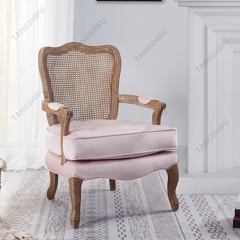 TSF-7764-Pink Velvet Accent chairs