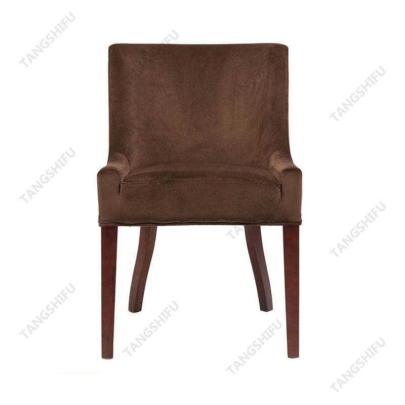 TSF-D035-Chocolate Brown Velvet Dining Chairs