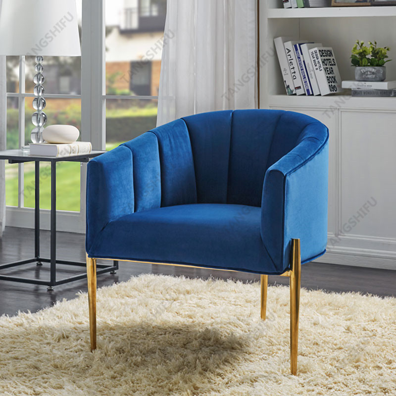 TSF-DC6623-Navy Gold-CC Accent chairs