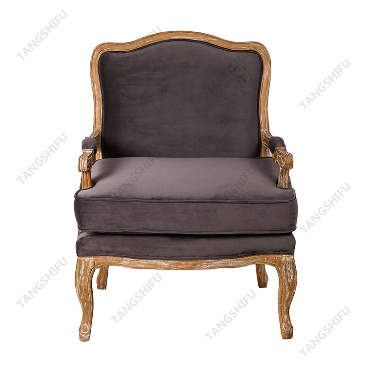 TSF-52349-Grey Velvet Accent chairs