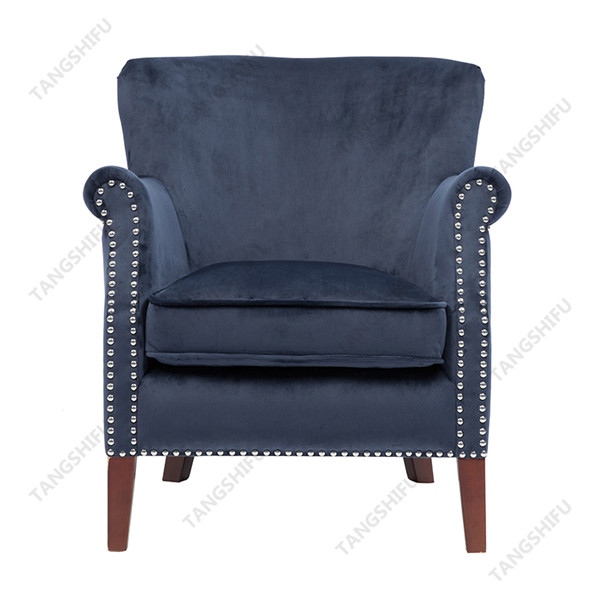 TSF-8010-Navy Velvet Accent chairs